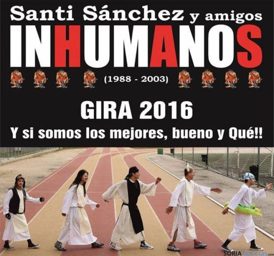 Concierto de Santi Sánchez y amigos Inhumanos en Navaleno (Soria).