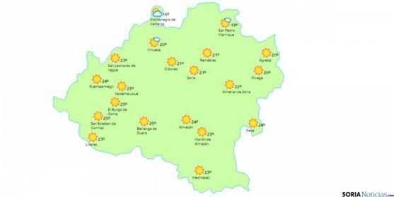 Día soleado en toda la provincia./ www.eltiempo.es