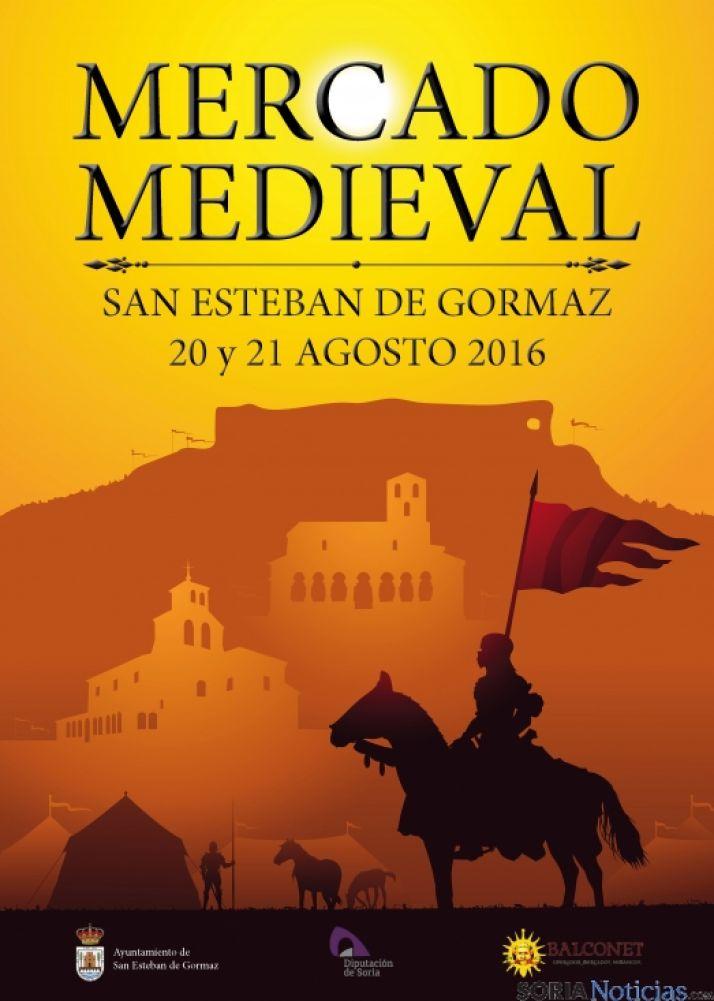 Cartel del Mercado Medieval 2016 en San Esteban de Gormaz (Soria).
