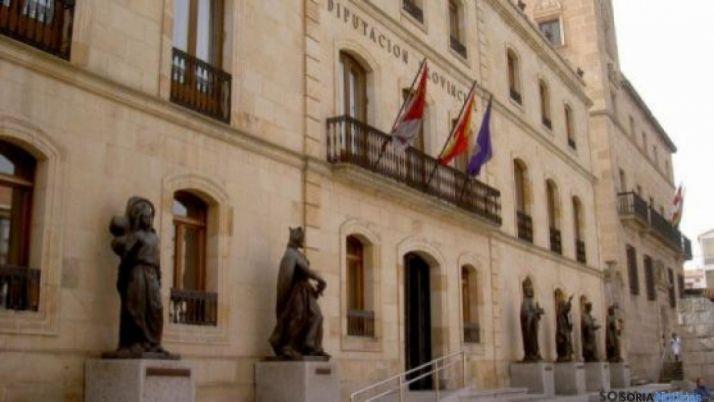 Fachada de la Diputación provincial de Soria.