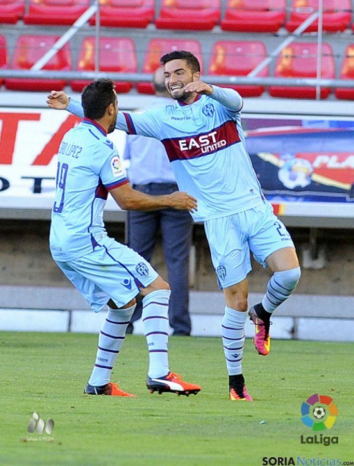 Celebración del gol. LFP