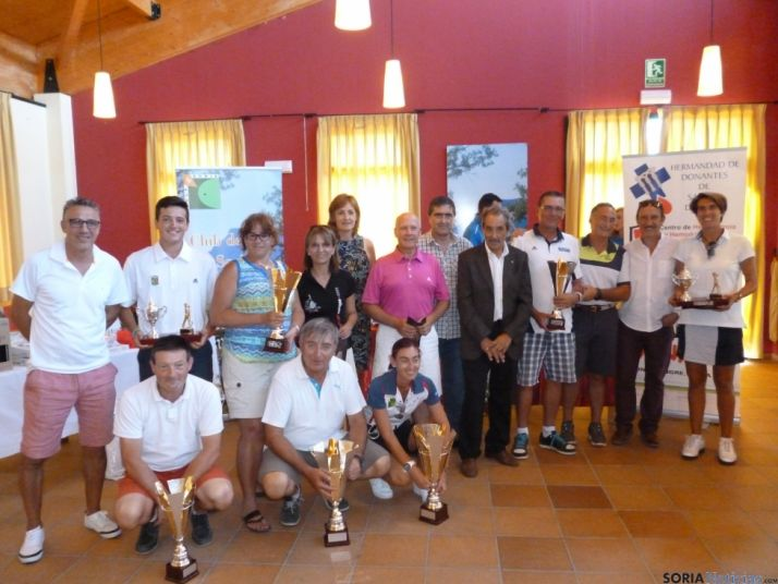 Imagen de la entrega de premios del torneo. /Club de Golf Soria