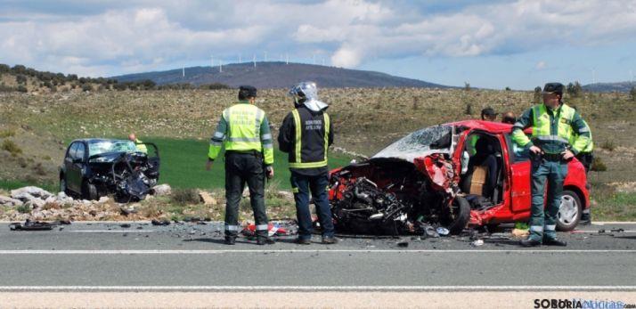 Imagen del accidente en el Alto de La Omeñaca. SN