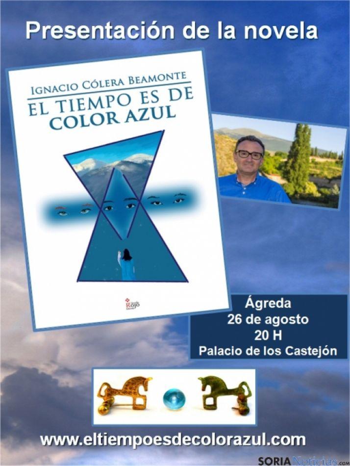 Foto 1 - Ignacio Cólera presenta en Ágreda su libro 'El tiempo es de color azul'