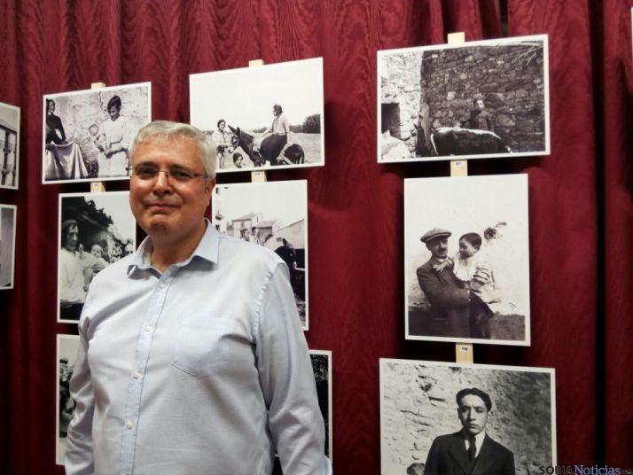 Manuel Abad, nieto del fotógrafo Ezequiel Tudela Calvo. /P.C.