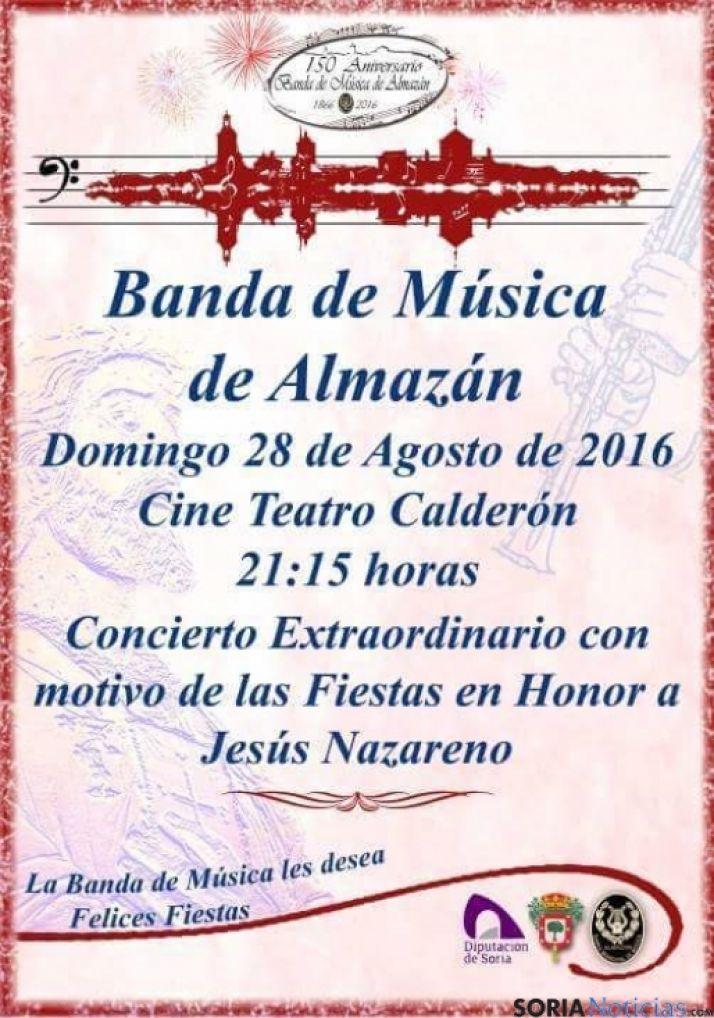 Foto 1 - La Banda de Almazán estrena la marcha de 'La Bajada de Jesús'
