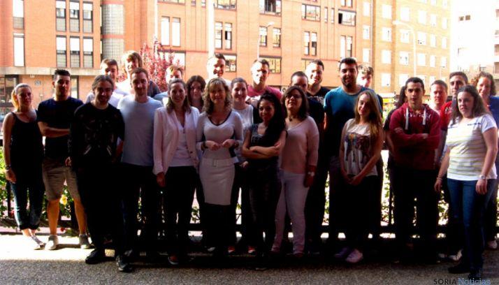 Alumnos del Programa Integral de Cualificación y Empleo (PICE) en Soria.