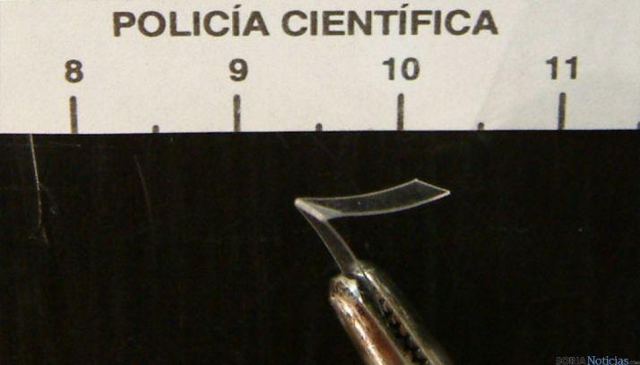 Prueba registrada en la Policía Científica.