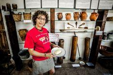 Marta Arribas en el 'Museo de la Mantequilla' de Molinos de Razón. /David Almajano