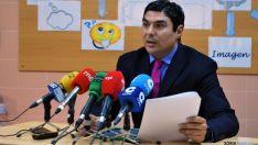 Óscar Abellón, de Escolapios, este miércoles en rueda de prensa. / SN