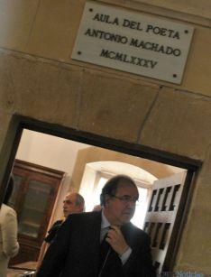 Imagen de la visita de Herrera este martes a Soria. / SN