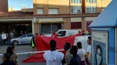 Los servicios asistenciales en el lugar del accidente./SN