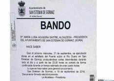 El bando de Alcaldía con el aviso./ SN