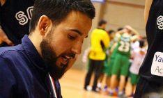 Daniel Hernández, en un partido de basket.