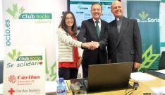 Irigoyen (izda.), Munilla y Ramírez en la presentación del proyecto. / SN