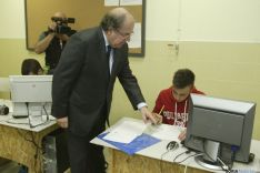 Imagen de la visita de Juan Vicente Herrera a Soria. / SN