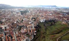Vista aérea de los inmuebles rústicos en Soria.