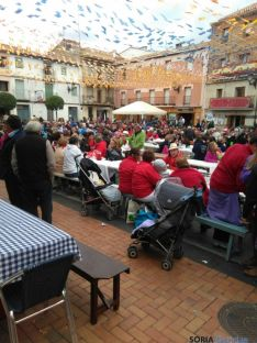 Comida popular en Ólvega (Soria).