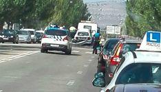 Accidente de tráfico en la avenida Valladolid, Soria.