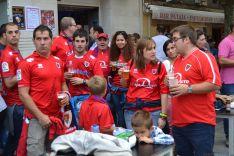 Aficiones en el derby Numancia-Zaragoza. /SN