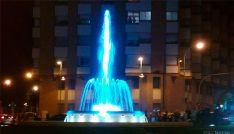 Inauguración de fuente luminosa en el paseo del Espolón, Soria.