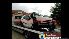 Imagen del accidente de tráfico en Los Llamosos, Soria. / @RadaresCYL.
