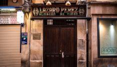 Fachada de la taberna Lázaro, en el centro de Soria.