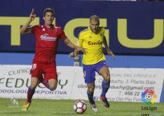 Luis Valcarce durante el partido. LFP
