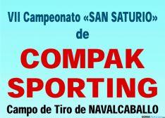 Cartel VII Campeonato Compak Soporting San Saturio en Navalcaballo (Soria).