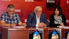 De izda. a dcha.: Juan Carlos Rodrigo, Jesús Bárez y María Ferrer.