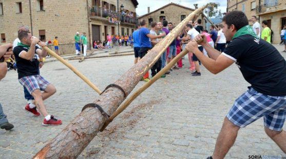 La pingada este martes en Duruelo. / PinaresNoticias