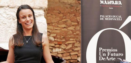 La intérprete Tania Lozano, este martes en Soria./Ayto.