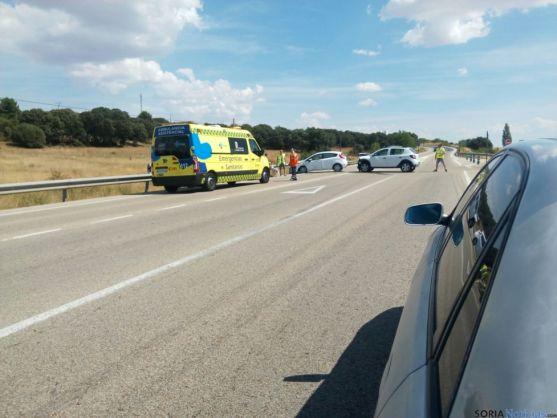 Imagen del accidente ocurrido en Cadosa. /SN