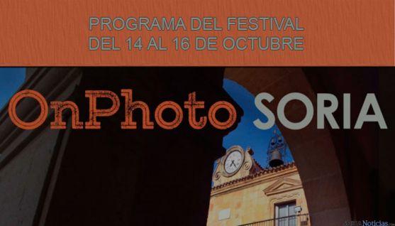 Programa del Festival OnPhoto Soria los días 14,15 y 16 de octubre.