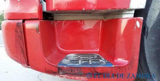 Imagen del escalapié del camión afectado./eldiadezamora.es
