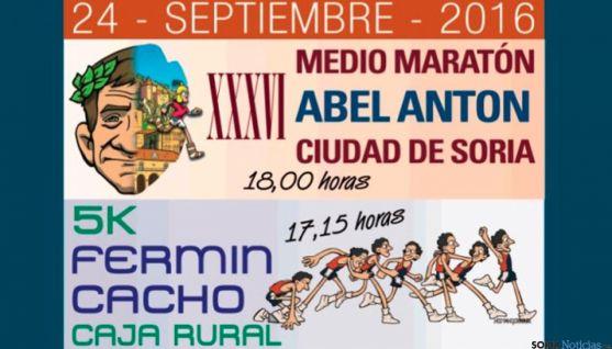 Cartel oficial de la carrera Abel Antón en Soria.