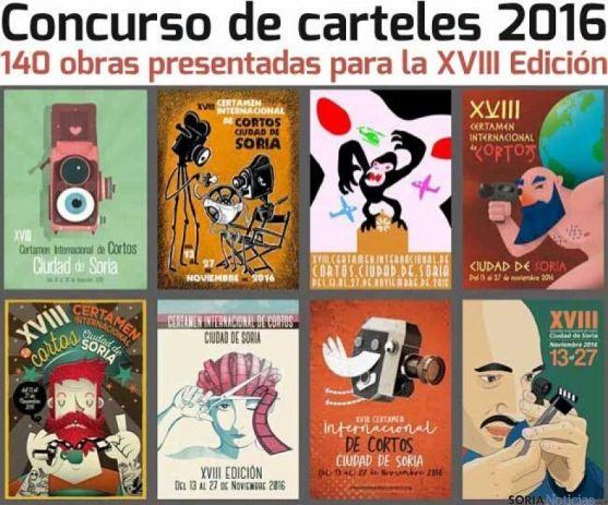 Concurso de carteles 2016 Certamen de Cortos 'Ciudad de Soria'.