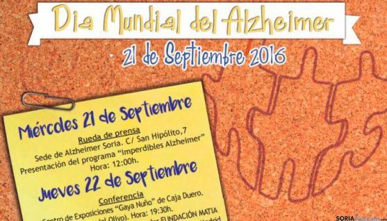 Programa del Día Mundial del Alzheimer de la Asociación Alzheimer Soria.