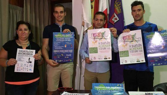 De izquierda a derecha: Eva Muñoz, Álvaro García, Iván Cuesta y Rubén Andrés.
