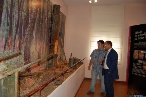 Luis Rey, presidente de la Diputación de Soria, en uno de los museos de la provincia de Soria.