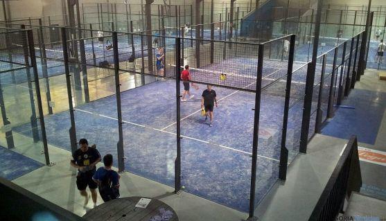 Pistas indoor del Club Pádel Soria./CPS