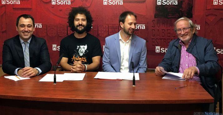 Muñoz, (izda.), López, Gonzalo y Bárez./Ayto.