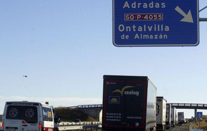 La A-15 esta tarde en sentido Madrid. / SN