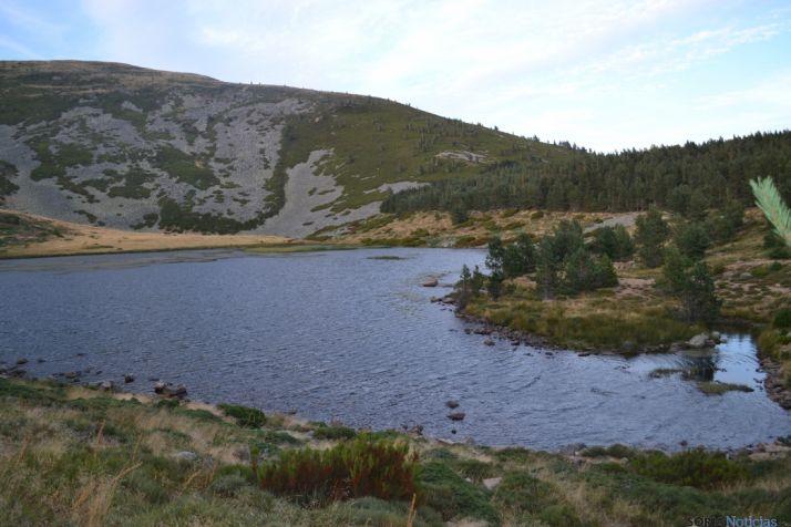 Vistas de la laguna de Cebollera (Soria).