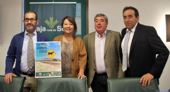 Palomar, (izda.), Andrés, Gonzalo y Lozano este jueves en Caja Rural. / SN