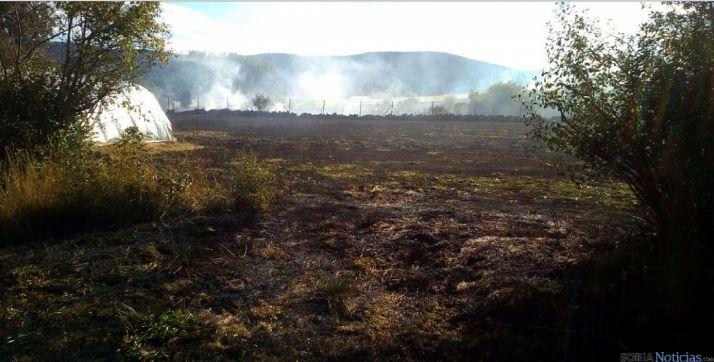 Imagen del incendio./A.Sandoval