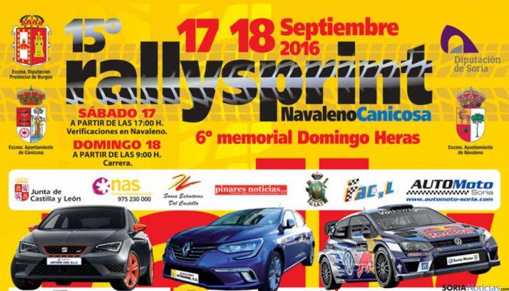 Cartel Rallysprint Navaleno-Canicosa, Soria.