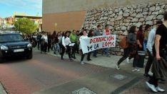 Una imagen de la concentración este miércoles en el Campus./SN