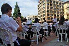Una imagen del concierto de la Banda este miércoles. / SN