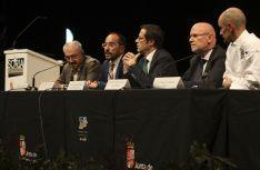 Una imagen de la ceremonia de hermanamiento este martes en el Palacio de La Audiencia. / SN